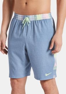 """Nike Men's 6:1 Faux-Linen Racer Stripe 9"""" Swim Trunks"""
