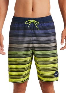 "Nike Men's 6:1 Stripe Breaker Water-Repellent Ombre 9"" Swim Trunks"