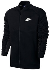 Nike Men's Advance 15 Mixed Media Bomber Jacket