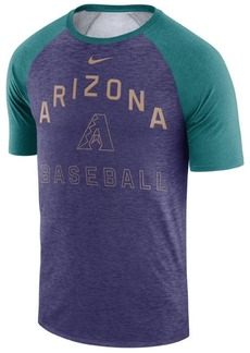 Nike Men's Arizona Diamondbacks Dry Slub Short Sleeve Raglan T-Shirt