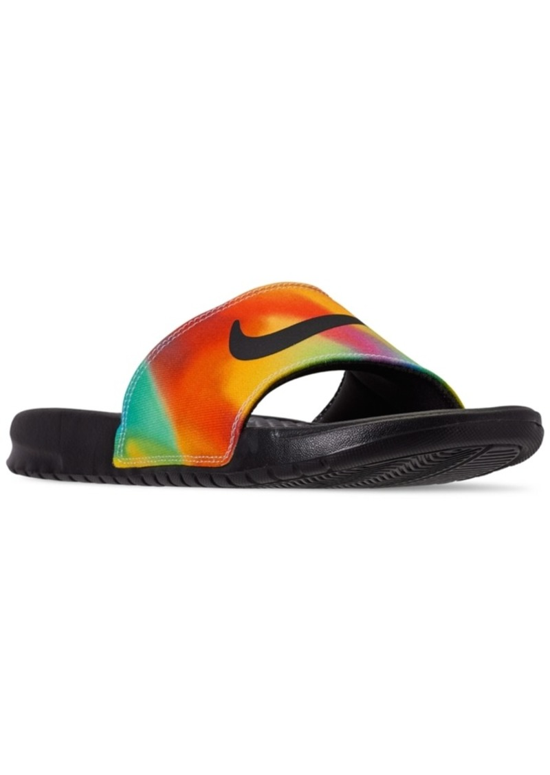 Nike Men's Benassi Jdi Print Tie Dye Slide Sandals from Finish Line