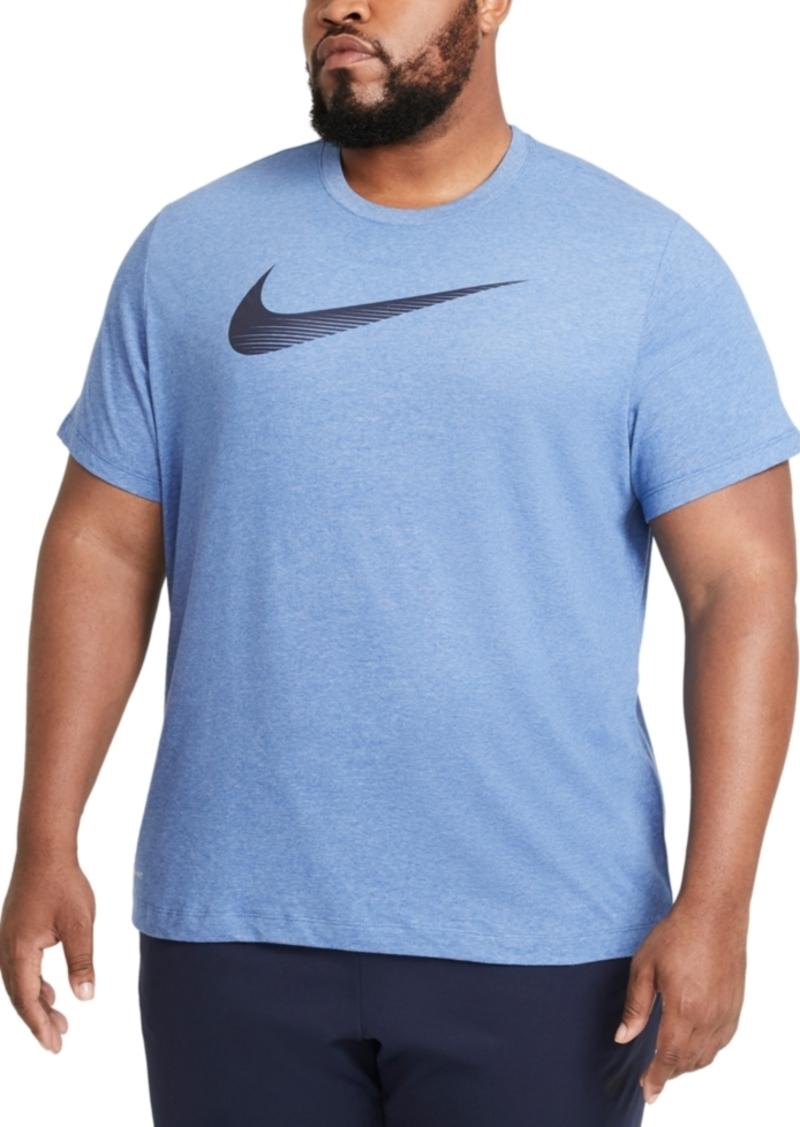 Nike Men's Big & Tall Swoosh Dri-fit Logo Graphic T-Shirt
