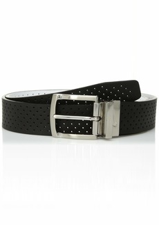 Nike Men's Big and Tall Perforated Reversible Leather Belt