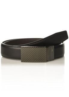 Nike Men's Standard Carbon Fiber Plaque Reversible Belt black/brown