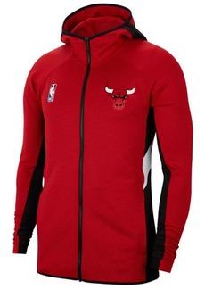 Nike Men's Chicago Bulls Thermaflex Showtime Full-Zip Hoodie
