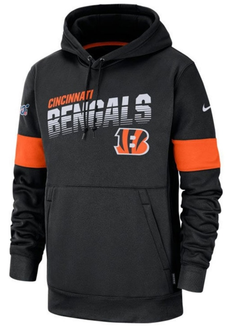 Nike Men's Cincinnati Bengals Sideline Line of Scrimmage Therma-Fit Hoodie