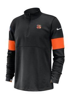 Nike Men's Cincinnati Bengals Sideline Therma-Fit Half-Zip Top
