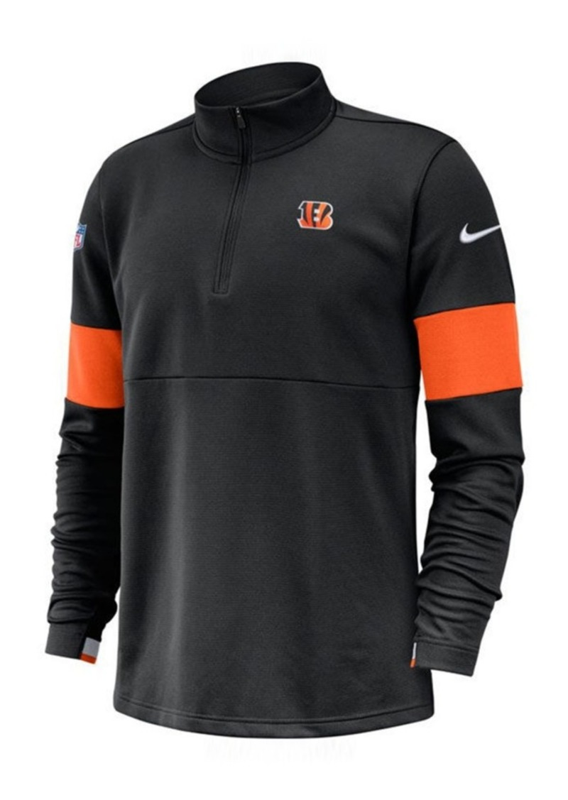 Nike Men's Cincinnati Bengals Sideline Therma-Fit Half-Zip Top
