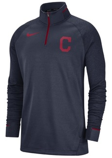 Nike Men's Cleveland Indians Dry Game Elite Quarter-Zip Pullover