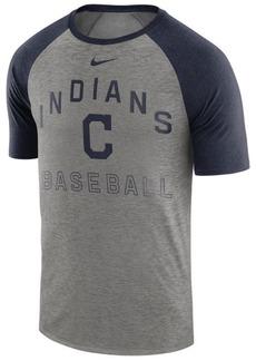 Nike Men's Cleveland Indians Dry Slub Short Sleeve Raglan T-Shirt
