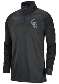 Nike Men's Colorado Rockies Dry Game Elite Quarter-Zip Pullover