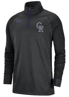 Nike Men's Colorado Rockies Dry Game Elite Quarter-Zip Pullover