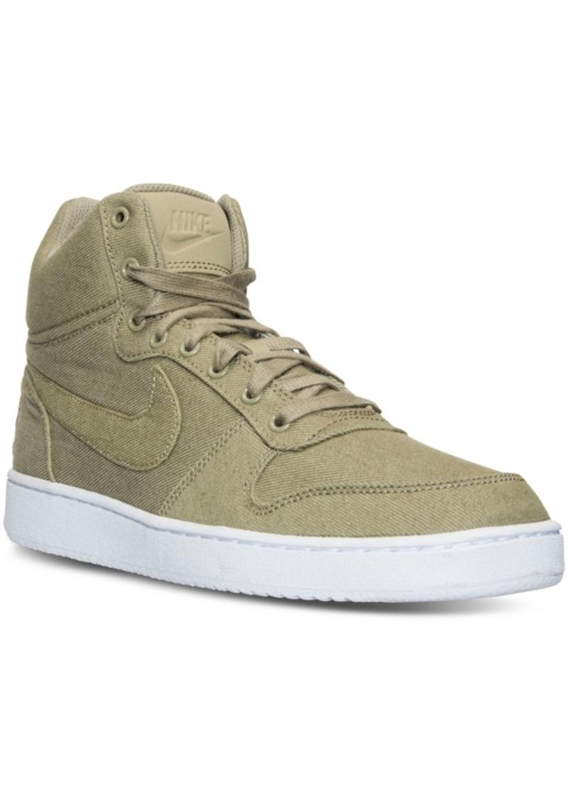 Men's Court Borough Mid Premium Casual Sneakers from Finish Line