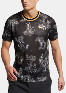 Nike Men's Court Printed Tennis Shirt