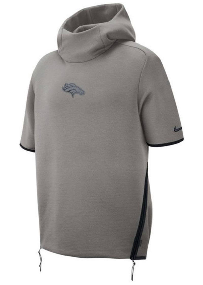 Nike Men's Denver Broncos Player Repel Short Sleeve Hoodie