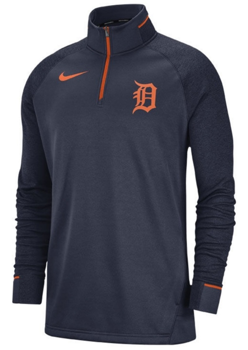 Nike Men's Detroit Tigers Dry Game Elite Quarter-Zip Pullover