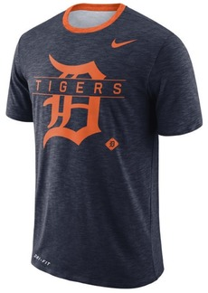Nike Men's Detroit Tigers Dry Slub Stripe Logo T-Shirt