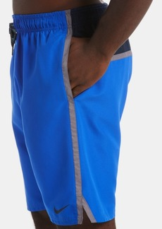 "Nike Men's Diverge Perforated Colorblocked 9"" Swim Trunks"