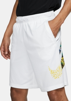 Nike Men's Dri-fit Printed-Logo Training Shorts