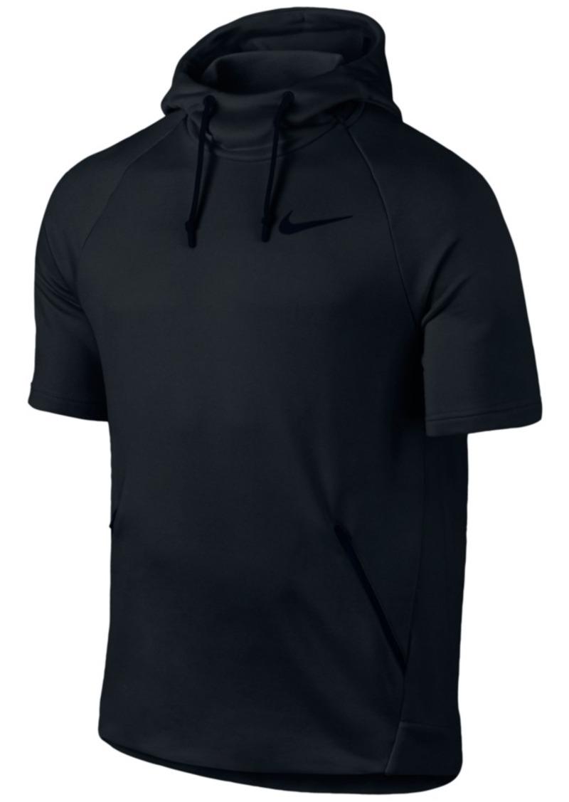 Nike Nike Men s Dry Short-Sleeve Training Hoodie  5935a9393