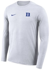 Nike Men's Duke Blue Devils Long Sleeve Dri-Fit Coaches T-Shirt