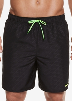 Nike Men's Embossed Volley Swim Trunks,7