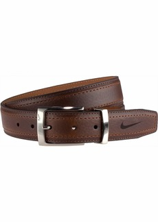 Nike Men's G-Flex Pebble Grain Leather Belt brown