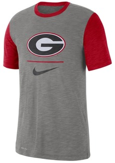 Nike Men's Georgia Bulldogs Dri-fit Slub Raglan T-Shirt