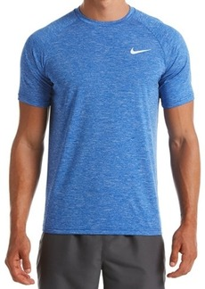 Nike Men's Hydroguard Dri-fit Stretch Upf 40+ Heather Rash Guard