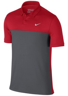 Nike Men's Icon Dri-fit Color-Blocked Golf Polo