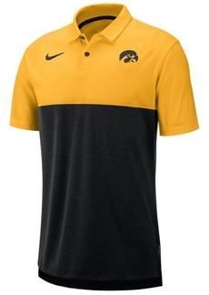 Nike Men's Iowa Hawkeyes Dri-Fit Colorblock Breathe Polo