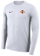 Nike Men's Iowa State Cyclones Long Sleeve Dri-Fit Coaches T-Shirt