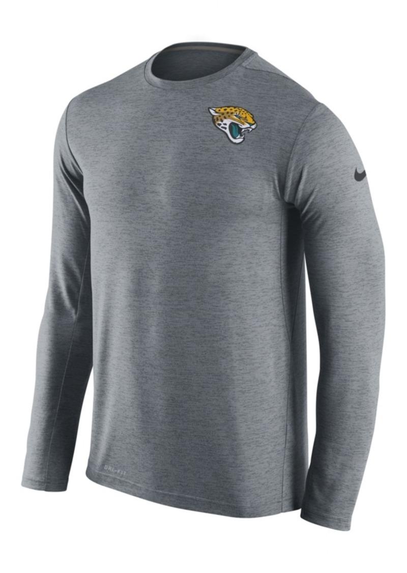 Nike Men's Jacksonville Jaguars Dri-fit Touch Long-Sleeve T-Shirt