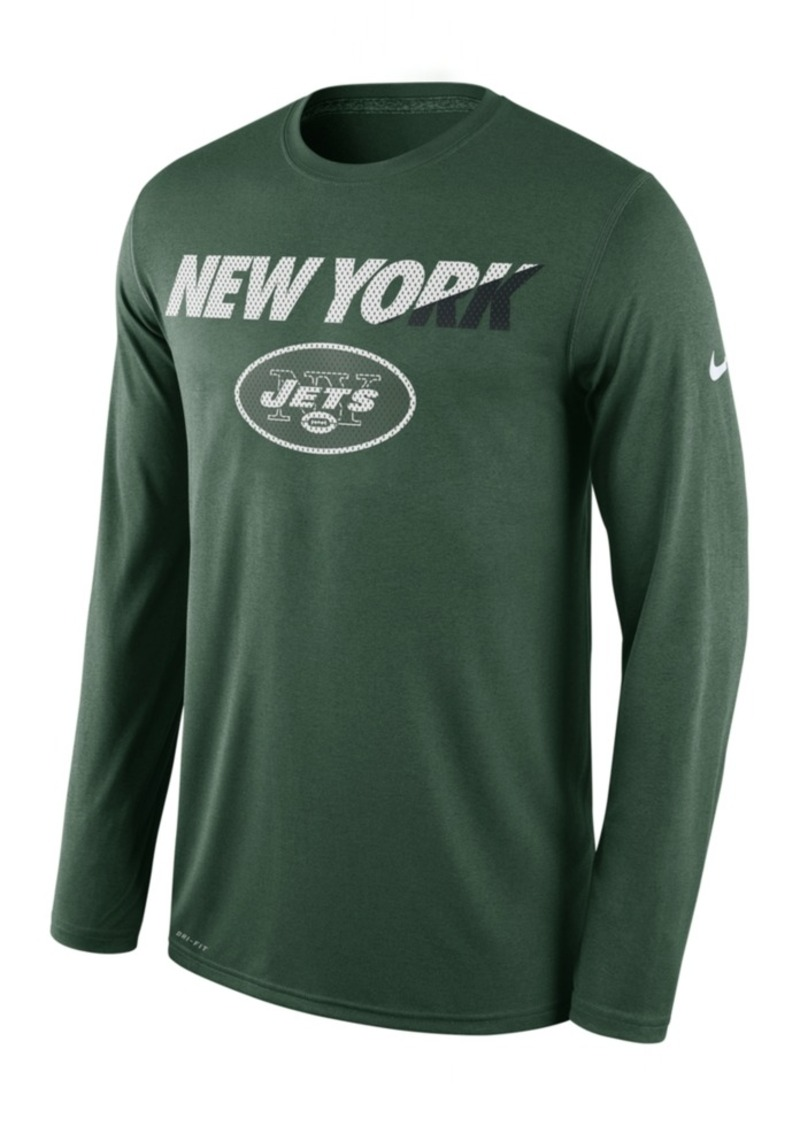 Nike Men's Long-Sleeve New York Jets Legend Staff Practice T-Shirt