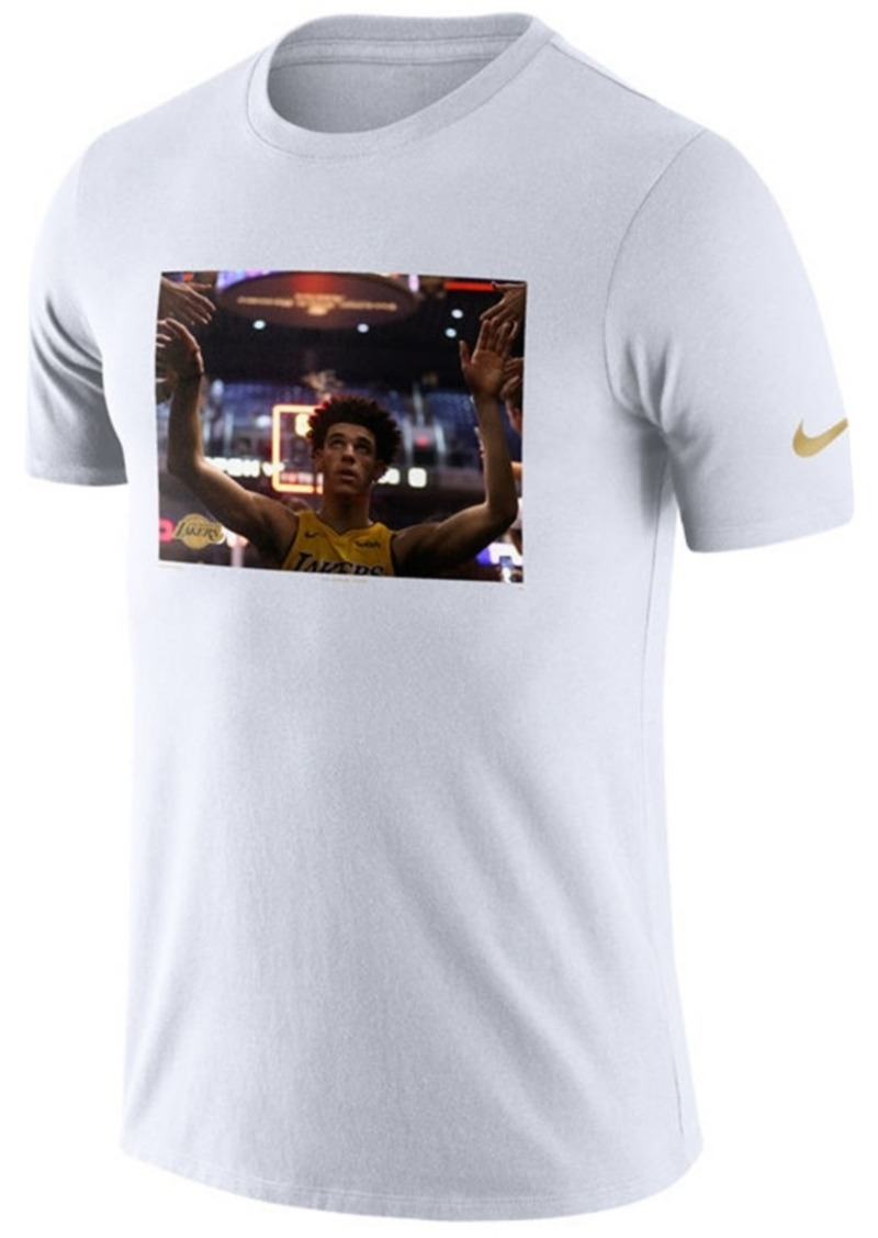 new style 95730 9884d Men's Lonzo Ball Los Angeles Lakers Rookie Photo Reel T-Shirt