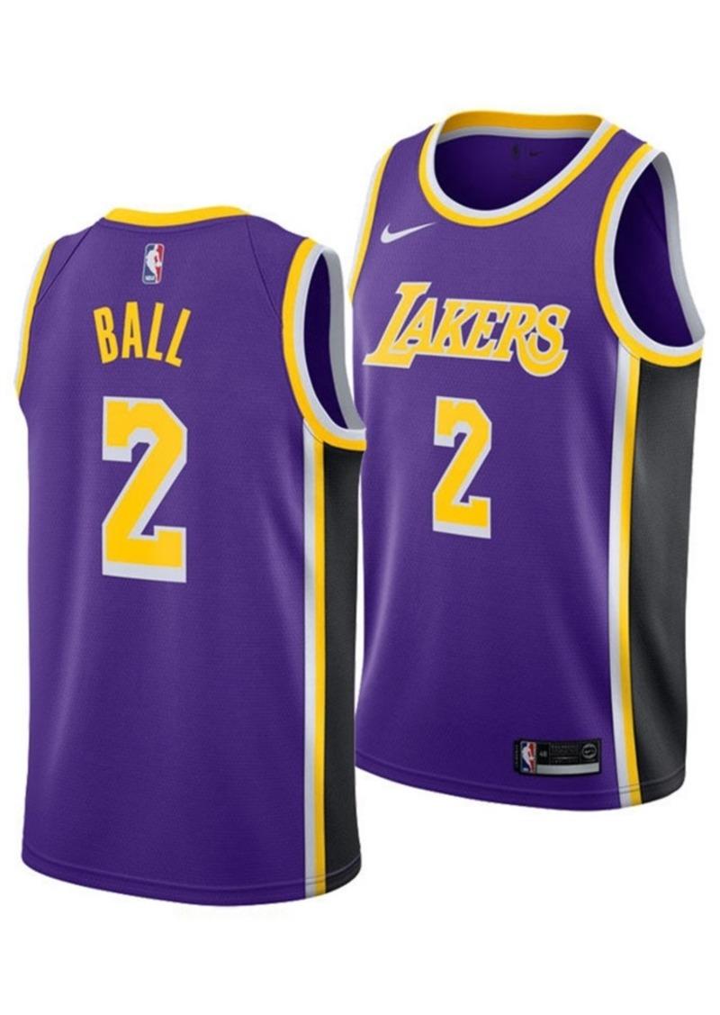 check out 9ed64 42dde Men's Lonzo Ball Los Angeles Lakers Statement Swingman Jersey