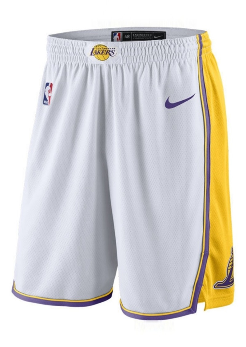 Nike Nike Men s Los Angeles Lakers Statement Swingman Shorts  905d234e1a29