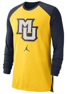 Nike Men's Marquette Golden Eagles Breathe Shooter Long Sleeve T-Shirt