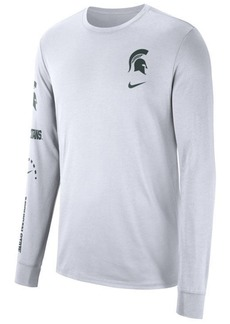 Nike Men's Michigan State Spartans Long Sleeve Basketball T-Shirt