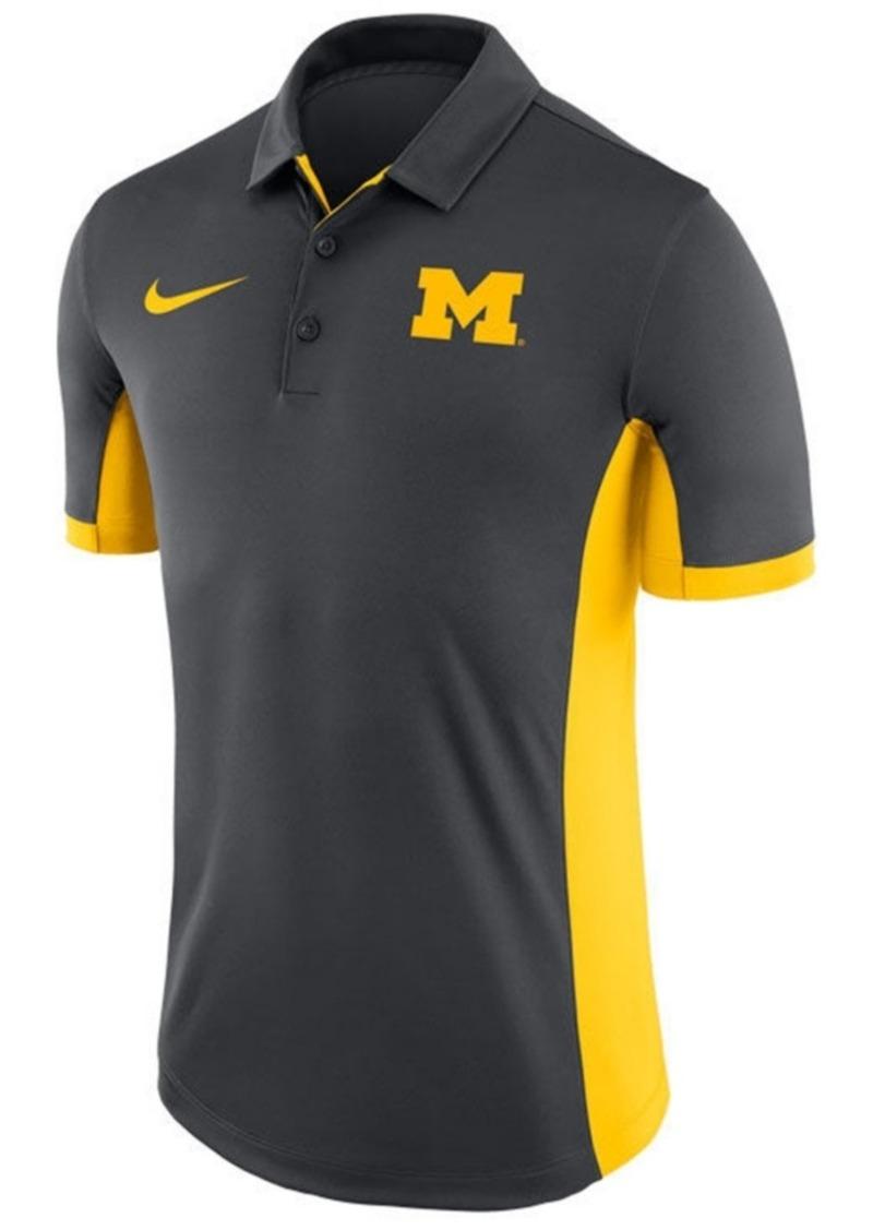 Nike Men's Michigan Wolverines Evergreen Polo