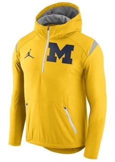 Nike Men's Michigan Wolverines Fly-Rush Quarter-Zip Hoodie