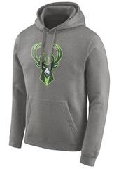Nike Men's Milwaukee Bucks Earned Edition Logo Essential Hoodie