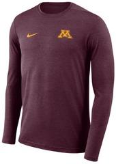 Nike Men's Minnesota Golden Gophers Long Sleeve Dri-Fit Coaches T-Shirt