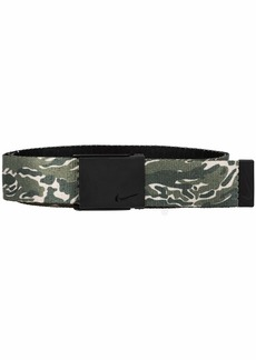 NIKE Men's New Tech Essentials Reversible Web Belt Olive camo/Black