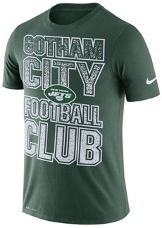 Nike Men's New York Jets Dri-Fit Cotton Mezzo Local Verbiage T-Shirt