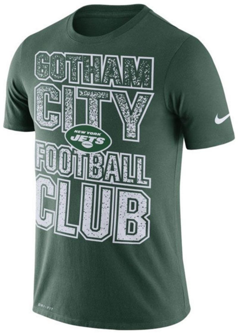 Nike Men's New York Jets Dri-Fit Cotton Mezzo Local Verbiage T-Shirt