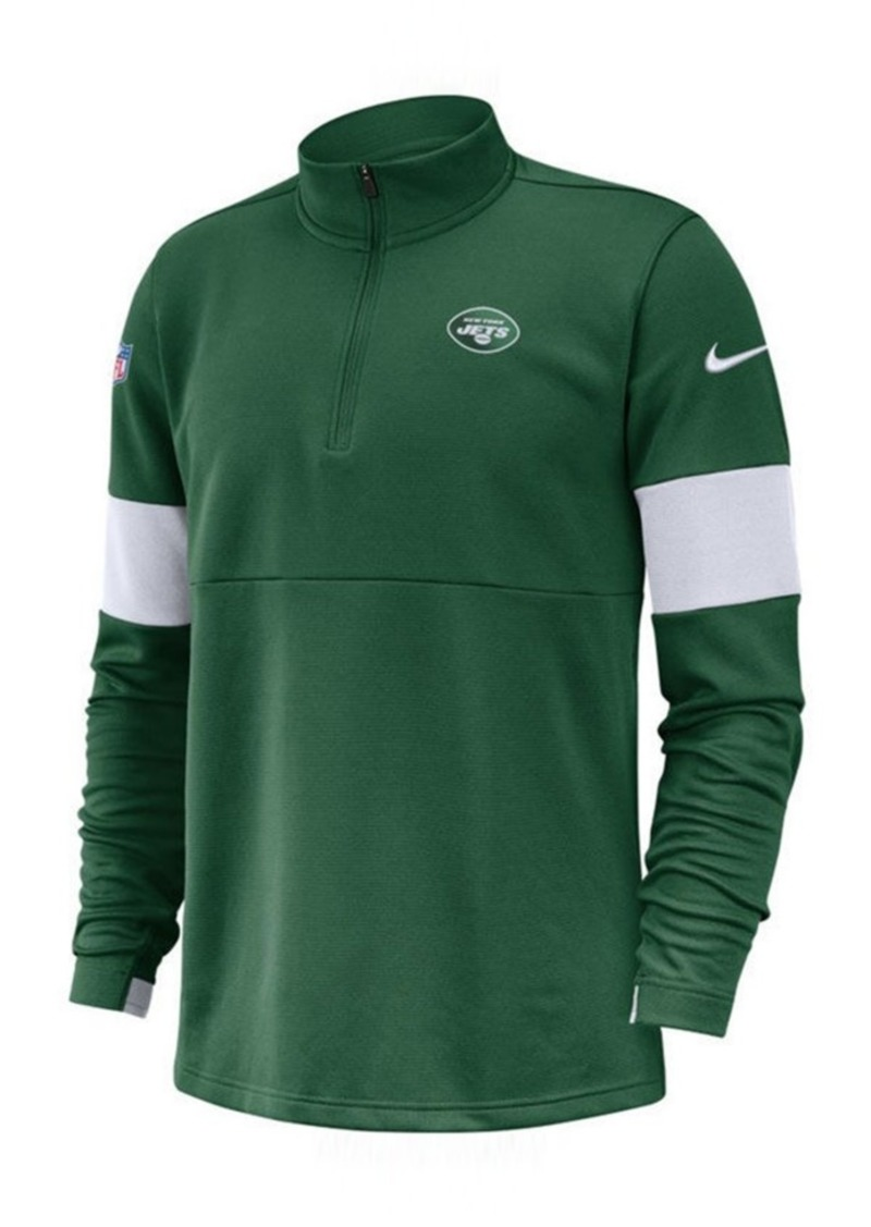 Nike Men's New York Jets Sideline Therma-Fit Half-Zip Top