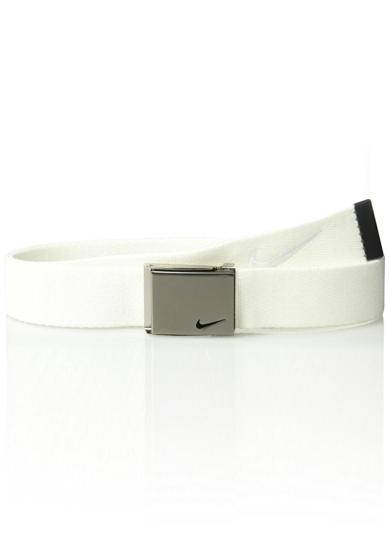 b25756dcc6c Nike Nike Men s Nike Men s Embroidered Swoosh Web Belt white