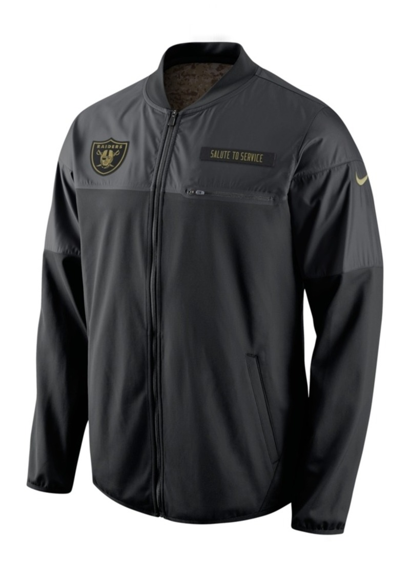 Nike Men's Oakland Raiders Salute to Service Hybrid Jacket