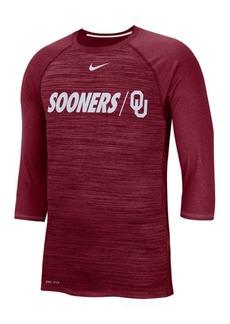 Nike Men's Oklahoma Sooners Legend Three-Quarter Sleeve Raglan T-Shirt